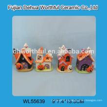 Nuevas decoraciones de halloween de la llegada, fantasma de cerámica de Halloween y venta al por mayor de cerámica de la calabaza