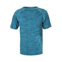 Camiseta de entrenamiento deportivo de poliéster transpirable para hombre