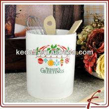 Soporte de cocina de cerámica blanco para Chrismas