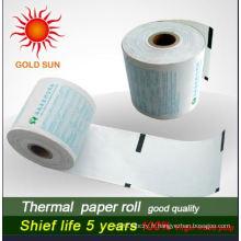 Papier thermique ATM sensible à la chaleur et aux couleurs