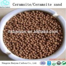 Les médias filtrants de sable en céramique, céramsite à vendre, fabricant fournissent le matériel de filtre à sable en céramique
