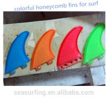 Shaper profesional Hecho a mano aletas de surf panal de colores