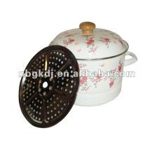enamel steamer pot & Chinese enamelware