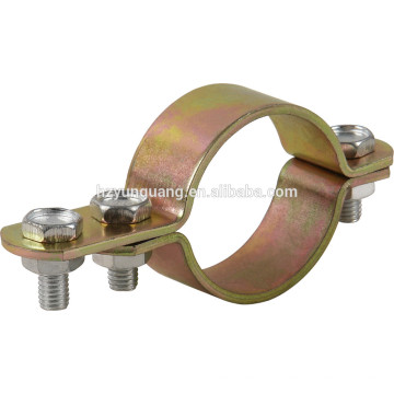 Pólo de montagem de pólo Braçadeiras de aço acessórios galvanizado pólo encaixe hardware braçadeiras de linha de tubo de aço