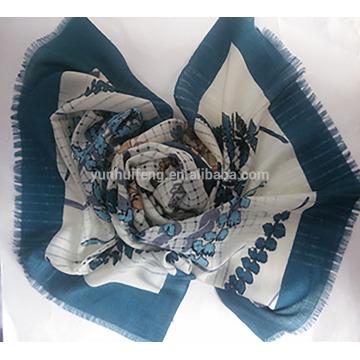 Fashion Mercerized printed wool scarf