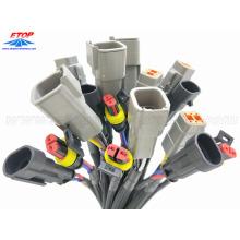 Connectors Strain relief overmolding