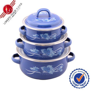 Classical Decal Kitchenware Enamel Cookware Set
