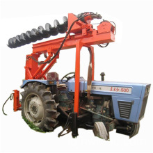 Tugas berat Tractor Mounted Hole Rigs driver pile