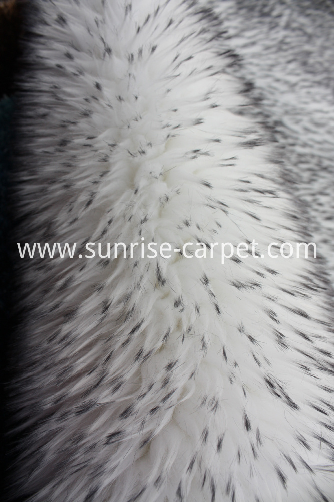 Imitation Fur Carpet White With Black Tip Color