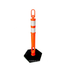 Highly Visible Road Safety Flexible Traffic Barrier Soft Delineator Warning Post