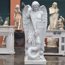 outdoor graden decoration stone carving marble statues st michael archangel