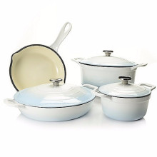 Cast Iron Cookware Set For Kitchen Use