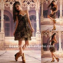 Astergarden реальные фото без бретелек печатных шифона с коротким коктейльное платье AS132