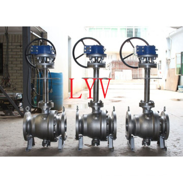 Worm Gear Flanged Reduced Stainless Steel Ball Valve