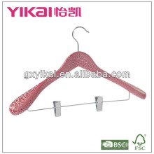 luxury wooden suit hanger with Fissure painted