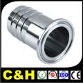 Fábrica de precisão de alta precisão CNC Machining Chromed Brass Pipe Fitting com ISO9001: 2008
