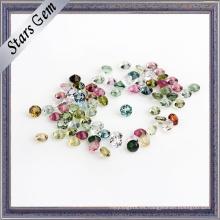 Piedra preciosa de turmalina natural colorida de alta calidad redonda de tamaño pequeño
