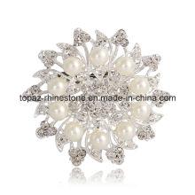 Wedding Bridal Rhinestone Round Flower Pin Brooch (TB-035)