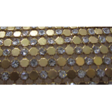 Shining crystal chaton aluminum base mesh 45*120cm