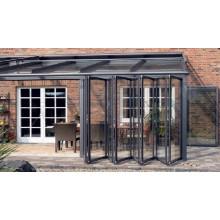 Porte pliante en aluminium de qualité pour intérieur / extérieur