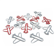 Moda de alta calidad de metal en forma de avión clips de papel