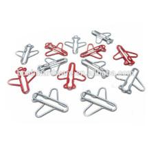 Moda alta qualidade metal avião em forma de clipes de papel