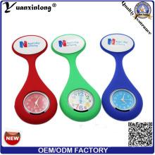 Yxl-289 Doktor-Zahnarzt-Krankenschwester-Mode-Silikon-Krankenschwester-Uhr-Doktor Watch Clock Medical Watch-Digital-Taschen-Uhr-Brosche-Krankenschwester-Uhren