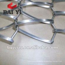 Malla metálica decorativa de alambre plano