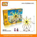 LOZ DIY rueda de la fortuna de plástico bloques de construcción de ladrillo juguetes