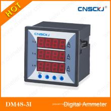 Three Phase Dm48-3I Digital Ammeter