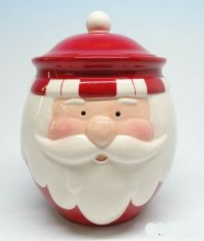 Ceramic X'mas Santa Sugar Pot for Christmas Gifts