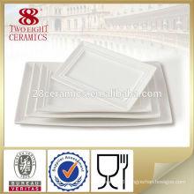 Ceramic long german dinner plate restaurant plates sale
