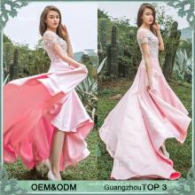 Últimas vestidos de mulheres festa casamento longo vestidos de noite rosa vestido design para senhoras