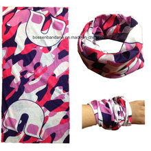 OEM Produce Customized Logo Printed Multifunctional Magic Seamless Tubular Scarf