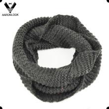 Warm lã de cores sólidas Knitting Neck Warmer