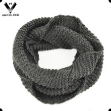 Cálido de color sólido de lana Knitting Neck Warmer