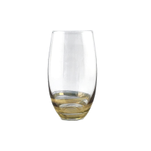 Copos de vinho sem haste com ouro