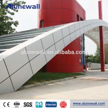 Decoración exterior ininterrumpida núcleo acp panel decorativo de pared