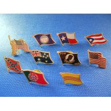 Différents boutons de drapeau, badge en métal de drapeau (GZHY-NB-004)
