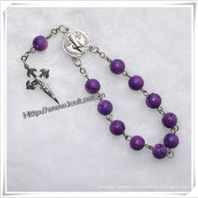 8mm Plastic Beads One Decade Rosary Bracelet (IO-CE037)