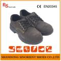 Chaussures de travail en cuir de daim chaussures de travail en caoutchouc de sécurité