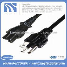 Cable de adaptador de alimentación de CA de 3-Prong para LCD Laptop 6FT 6 pies negro
