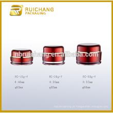 Frasco de creme acrílico 15g / 30g / 50g, frasco de creme acrílico redondo da forma