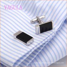 VAGULA Fashion Square casamento camisa punho botão de punho Men′s