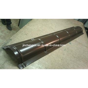 Hohe Geschwindigkeit mit CER-Standard-Metalldachfirst-Kappen-Rollformmaschine