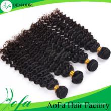 Extensão profunda brasileira não processada do cabelo humano de Remy do cabelo do Virgin da onda da categoria 7A / 8A