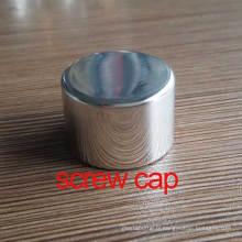Bouton / couvercle / capuchon cosmétique en acier inoxydable de 24 mm en aluminium brillant
