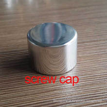 24mm Shiny Silver Aluminum Screw Bottle Cosmetic Lid / Cover / Cap