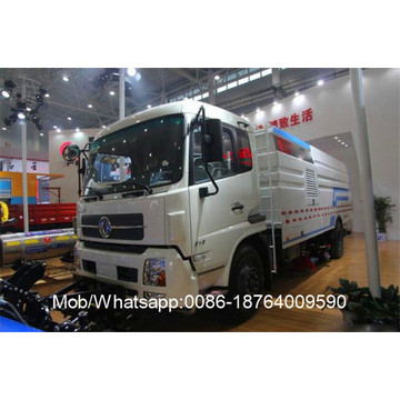 Camion de balayeuse de route de collecte des eaux usées à moteur unique