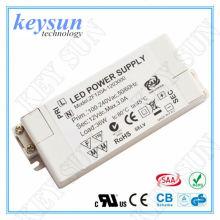 3W 250mA 12V AC-DC Voltagem constante LED Driver Fonte de alimentação com UL CUL CE FCC